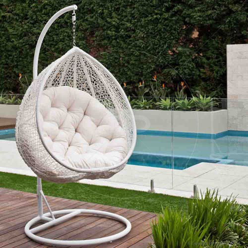 Furniture :: Outdoor Furniture :: HANGING EGG CHAIR   OUTDOOR RATTAN WICKER